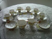 Art Deco 23piece china tea set by Bell of England