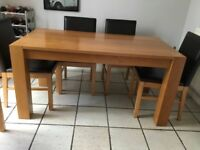 Oak Dining Table Sits 6 Chairs Not Included