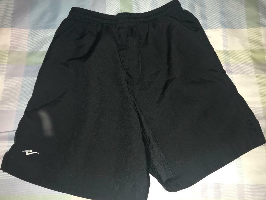 Kids black school PE shorts. Age 11/12