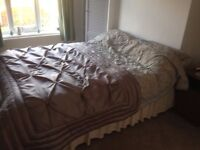 Double bed with mattress, excellent