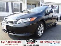 2012 Honda Civic LX $103.31 BI WEEKLY!!!