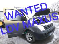 VAN WANTED !!! LDV MAXUS ANY CONDITION