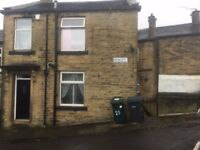 large 2 / 3 bedroom end terrace house to let / rent in denholme village bradford £475pcm £475 bond