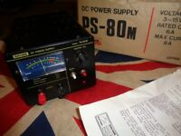 Daiwa Regulated DC Power Supply PS-80M 3-15V Rated 6A Maximum 8A