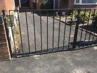 Metal Gates with Black Metal Paint
