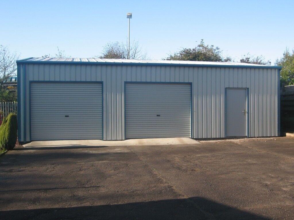 Steel Framed Double Garage Car Workshop Shed Building Kit
