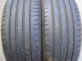 A pair of Good Year tyres that I kept in my garden for almost 3 months 225/40R18