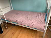 Metal Bunk Bed in very good condition - with Free Memory foam mattresses