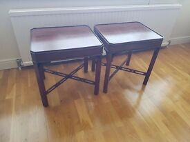Pair of living room tables with secret drawers