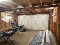Garage storage workshop yard