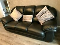 Black Leather sofa and chair
