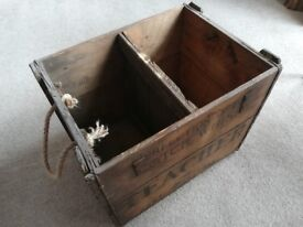 Vintage whisky crates