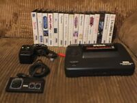 Sega Master-system II with 16 games, some rare and collectable.