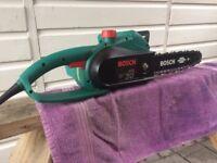 Bosch electric chainsaw 1600w 15' bar £40.00