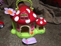 Toy bundle: Mega Blocks, Early Learning Centre fairy house, London bus and farm yard