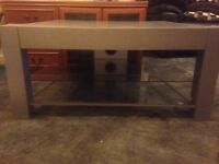 TV Stand Light Grey/Silver