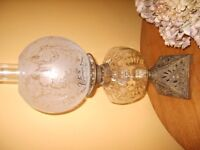 Antique Cast Iron Based Oil Lamp