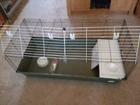 Ferplast 120 Guinea Pig Rabbit Indoor Cage in Green from Pets At Home ONLY USED FOR 4 WEEKS