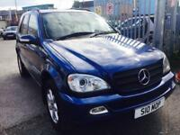 MERCEDES ML 270 CDI DIESEL AUTOMATIC LEATHER SEATS FULL SERVICE HISTORY CLEAN CAR PRIVATE PLATE