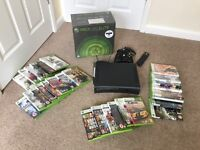 XBOX 360 Elite + 28 Games + 2 Controllers + Wireless Adapter + Remote - VGC