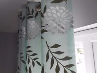 Contemporary design eyelet curtains by Montgomery as new condition
