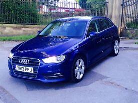2013 13 Audi A3 Sport 2.0 TDI 150 Sportback 5 Door Blue **FULL SERVICE HISTORY* S Line VW GOLF GTD