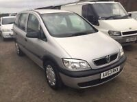 53 REG VAUXHALL ZAFIRA 7 SEATER AUTOMATIC IN VGCONDITION DRIVES REALLY WELL 1yrs MOT ON SALE PX WELC