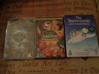 Brand new childrens dvd's x 3, jungle book, snowman & turtles movie
