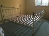 Hardly used super king sized bed frame