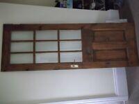 Internal pine half glazed door