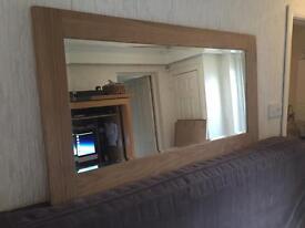 Large solid oak Rustic mirror