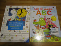 GERMAN educational board books, 4+years - Deutsche Kinderbücher, ABC und Uhr