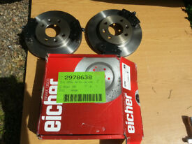 Set of Eicher font brake discs and pads for Renault clio mk1 mk2