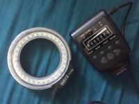 Manual macro ring flash