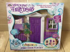 Brand new in box opening fairy door playset - willow