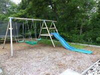 TP Toys Triple Swing and Slide Set
