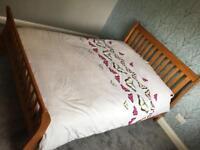 Maldon Double Bed Frame - Pine & Sareer Matrah Pocket 1000 Double Mattress