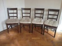 Four Ikea Harald dining table chairs