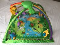 Fisher Price music and lights rainforest play mat gym