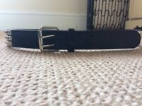 Black triple row studded belt