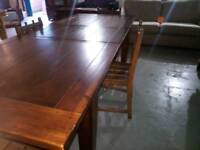 Stunning 7ft long solid wood extending dinning table ,will seat 8