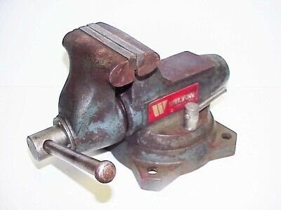 Wilton 5 Vise 1750 Wswivel Base Pipe Grip Jaws Machinist Bench