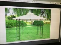 3M Metal Gazebo with fabric roof.
