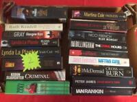 Box of crime and detective books