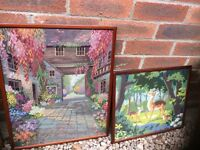 Framed Tapestries, various topics, around 5