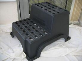 DOUBLE BLACK PLASTIC CARAVAN/MOTORHOME STEP
