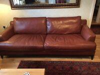 Leather Three Seater Sofa, Leather settee