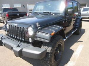 2014 Jeep Wrangler Unlimited Sport- 4x4! ALLOYS! HITCH! ONLY 65K