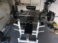 Bench bars and weights