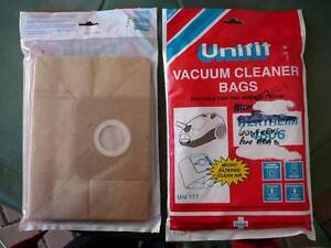 UNIFIT VACUUM CLEANER BAGS WERTHEIM UNI 177 2 BAGS  OF 5 Seaton Charles Sturt Area Preview
